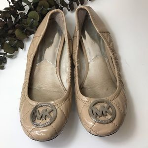 Michael Kors Quilted Leather Ballet Flat- Size 7.5